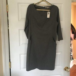 """Gap Dress, Gray 12, New with Tags, 44"""""""